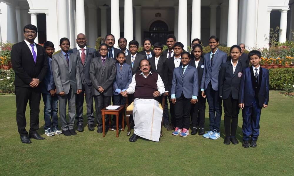 With Vice – President of India, Hon'ble Shri Venkaiah Naidu